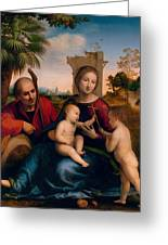 The Rest On The Flight Into Egypt With St. John The Baptist Greeting Card