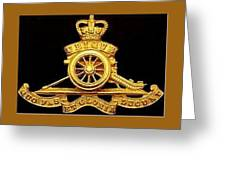 The Royal Artillery Greeting Card