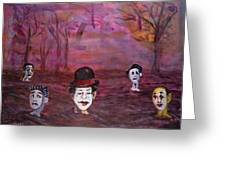 The Silence Of The Mimefield Greeting Card