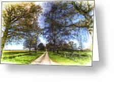 The Summer Farm Track Art Greeting Card
