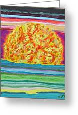 The Sun Drinks The Ocean And Eats The Sky Greeting Card