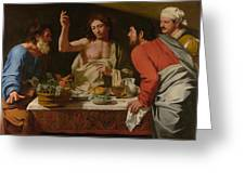 The Supper At Emmaus Greeting Card
