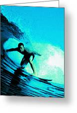 The Surfer Greeting Card
