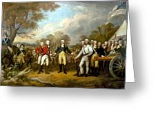The Surrender Of General Burgoyne Greeting Card