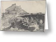 The Temple Of Concord On The Wall, Girgenti Greeting Card
