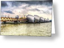 The Thames Barrier London Greeting Card