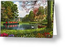 The Valley Cottage Variant 1 Greeting Card