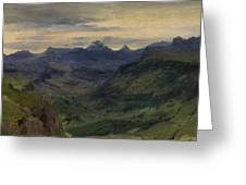 The Valley Of Saint-vincent Greeting Card