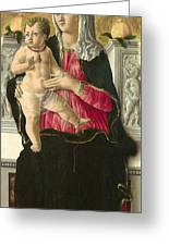 The Virgin And Child Enthroned Greeting Card