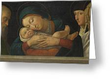 The Virgin And Child With Four Saints Greeting Card
