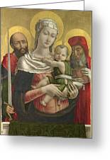 The Virgin And Child With Saints Paul And Jerome Greeting Card