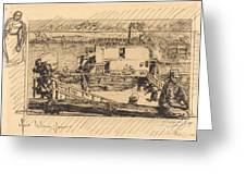 The Wash-house (le Lavoir) Greeting Card