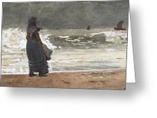The Watcher, Tynemouth Greeting Card