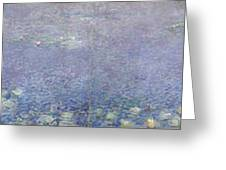 The Water Lilies, Morning Greeting Card