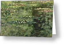 The Water-lilies Pond  Greeting Card