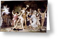 The Youth Of Bacchus Greeting Card