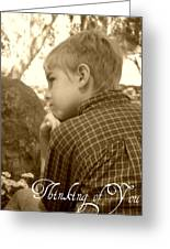 Thinking Of You Greeting Card by Amanda Eberly-Kudamik