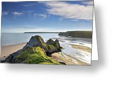 Three Cliffs Bay 5 Greeting Card