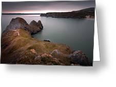 Three Cliffs Bay Gower Greeting Card