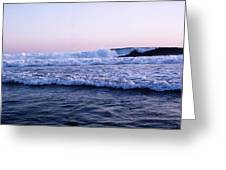 Three Waves Greeting Card