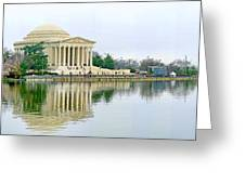 Tidal Basin With Cherry Blossoms Greeting Card
