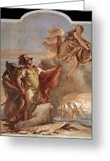 Tiepolo Villa Valmarana Venus Appearing To Aeneas On The Shores Of Carthage Giovanni Battista Tiepolo Greeting Card