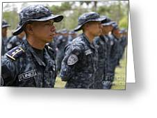 Tigres Commandos Stand In Formation Greeting Card