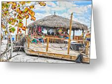 Tiki Bay Island  Greeting Card