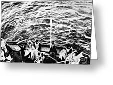Titanic: Lifeboats, 1912 Greeting Card