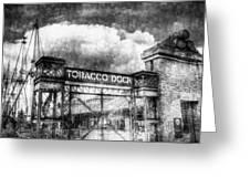 Tobaco Dock London Vintage Greeting Card