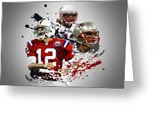 Tom Brady Patriots Greeting Card