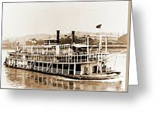 Tom Greene River Boat Greeting Card
