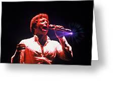Tom Jones In Concert Greeting Card