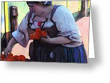 Tomatoe Lady Greeting Card