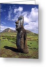 Tongariki Moai On Easter Island Greeting Card