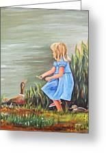 Tori And Her Ducks Greeting Card