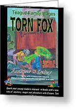 Torn Fox Greeting Card