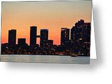 Toronto Sunset Greeting Card
