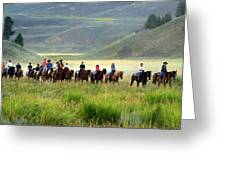 Trail Ride Greeting Card