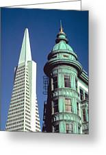 Dueling Architecture In San Francisco Greeting Card