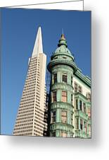 Transamerica Pyramid Building Greeting Card