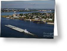 Transportation - Shipping On The Mississippi River Greeting Card