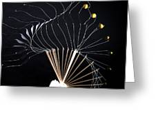 Trebuchet Launching A Ball Greeting Card