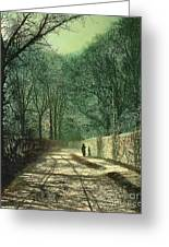 Tree Shadows In The Park Wall Greeting Card