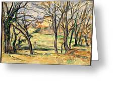 Trees And Houses Near The Jas De Bouffan Greeting Card