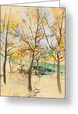 Trees In The Bois De Boulogne Greeting Card