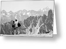 Trekking Together Greeting Card