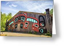 Tribal Totem Pole In Ketchikan Alaska Greeting Card
