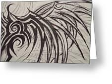 Tribal Wing Sketch Greeting Card