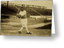 Tris Speaker With Boston Red Sox 1912 Greeting Card